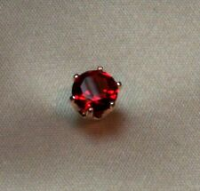 3/4 CT ROUND BRILLIANT CREATED RUBY MENS TIE TACK PIN SOLID STERLING SILVER