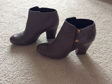 Moda in Pelle Karlina Taupe Block Heel Ankle Boots Size 6