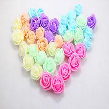 144pcs Foam Head Artificial Rose Flowers Petals Handmade Wedding Decor Supplies