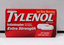 Tylenol Extra Strength 500mg 24ct Caplets  -Expiration Date 07-2019-