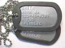 US ARMY AUTHENTIC PERSONALIZED DOG TAGS. FREE SHIPPING!
