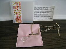 NWT ALEXIS BITTAR LUCITE COLLECTION 2-STRAND NECKLACE PENDANT ADJUST GOLD TONE