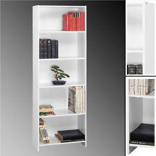 REGAL TOWER weiß 5 Fächer Standregal Bücherregal 170x60cm Badregal Schrank NEU
