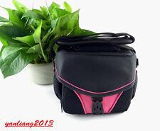 DSLR Shoulder Camera Bag case For Nikon Canon Sony Fuji Pentax Samsung PINK