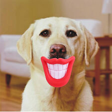 Funny LOL Teeth Small Dog Pet Chew Toys Activity Training Squealer Red Lips Hot