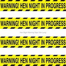 Hen Party Do Accessories Decorations Hen Night In Progress Warning Tape Banner