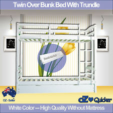 BUNK BED TWIN OVER TRUNDLE KIDS CHILDREN's ROOM FURNITURE WITH STORAGE BOX