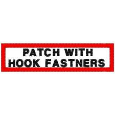 CUSTOM EMBROIDERED BIKER NAME PATCH WITH HOOKS