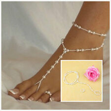 New Foot Jewelry Barefoot Sandal Bridal Beach Pearl Anklet Chain Bracelet FadMDA