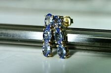 STUNNING 1.40 CT NATURAL AA TANZANITE 9CT GOLD EARRINGS QUALITY ITEM SALE