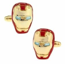 One Pair Coloured Gold & Red IronMan Marvel Comic Novelty Cufflinks