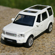Land Rover Discovery 4 Car Model 1:32 Alloy Diecast Collection & Gifts White New