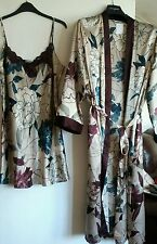 Ladies M&S Satin Nightdress And Dressing Gown, size 16-18