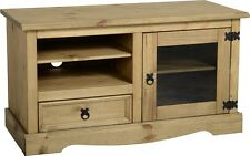 Corona TV Stand Entertainment Unit Televsion Cabinet Solid Wood Mexican Glass