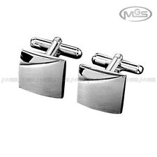 Buy 2 Get 1 Free Personalized Engravable Plain Square Silver Wedding Cufflinks