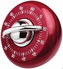 Judge Wind Up Mechanical 60 Minute Kitchen Cooking Classic Timer Red TC307