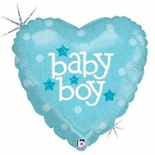 Party Decorations Baby Shower Blue Heart Holographic Foil Balloon