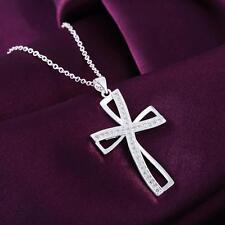 Silber Glücksbringer Schutzengel Kette+Anhänger Kreuz Halskette Silberschmuck