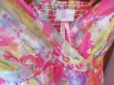 Damen Bluse Trägershirt Top Gr. 36 mehrfarbig