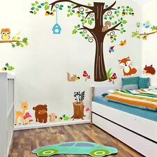 Wandtattoo Sticker Wandaufkleber Tiere Zoo Spielzimmer Kinderzimmer Groß 1 XXXL