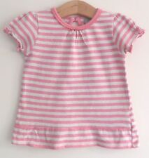 9-12 months girls baby clothes clothes pink stripey top