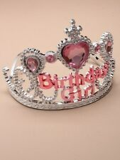 NEW Plastic silver childrens birthday girl tiara hair accessory party prom