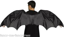 Mens Ladies Black Dragon Halloween Medieval Wings Fancy Dress Costume Outfit