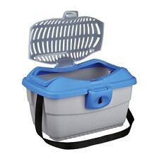 Trixie Kleintier-Transportbox Mini-Capri - hellgrau/blau