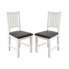 2 x Stuhl LUCCA Birke massiv weiß Esszimmerstuhl Küchenstuhl Stühle Gastro