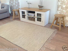 LOVELY LARGE SOFT WASHABLE COTTON 2051 RUG IN CREAM GREY SHADES 90cm x 150cm