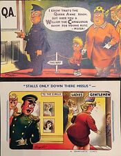 BAMFORTH SEASIDE COMIC SERIES POSTCARDS Pack No 6