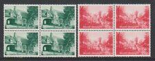 Belgium - 1954, 80c + 20c and 2f + 1f Bruges Fund - Blocks of 4 - MNH -SG 1534/5