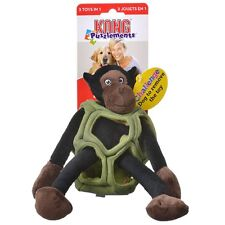Kong Squeaky Plush Puzzle Crinkly Play 3 in 1 Toy - Puzzlements - Monkey Small