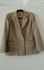 Ladies Aquascutum Country/Tweed Oversized Wool Boyfriend Blazer 10/12/14