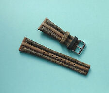 Distressed Leather Watch Strap 26mm Brown