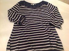 Fatface Shirt Bluse neu blau weiß dunkelblau Streifen gestreift M L 38 40 10 12