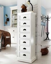 Rutland white painted furniture 7 drawer wellington chest of drawers