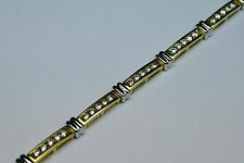 Diamond  Tennis Bracelet 2ct 14kt Vintage 1980'S No Reserve Auction !!! $ave $$$