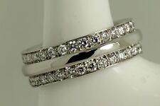 platinum 950 wedding band diamond set eternity ring ladies double row
