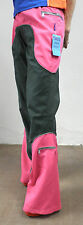 Pink & Dark Green Flared Trousers   Size S - M  Cosplay Cyber Rave