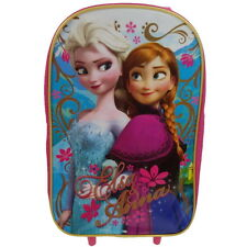 NEW OFFICIAL Frozen Disney Girls Kids Wheeled Case Luggage Suitcase / Travel Bag