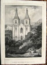 ROUDNICE NAD LABEM Raudnitz TSCHECHIEN. Orig. Litho 1845