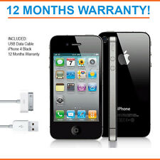 Apple iPhone 4 8GB - Black - Factory Unlocked - Good Condition