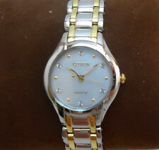 Ladies New Citizen Eco Drive with Diamonds Model EM0284 Silhouette RRP $525