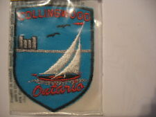 Vintage Collingwood Ontario Souvenir Canada  Patch Sew  on Sailing boat