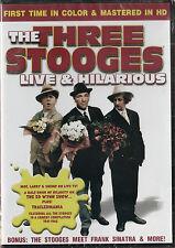 The Three Stooges LIVE & HILARIOUS *New & SEALED* Region 1  UPC: 844503000859