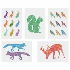 IKEA KORT Art Card Picture Set of 5 Assorted Animals Decoration 10x15 cm Hanging