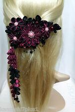 Franzözische Haarspange Haarschmuck Kanzashi Brautschmuck Satinblume