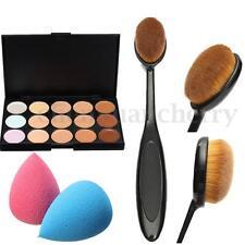 15 Colours Concealer Palette kit Face Makeup Contour Cream Puff Sponge Brush Set