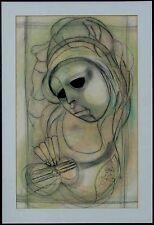 Wandbild undeutlich signiert, Südafrikansiche Künstlerin, Musikerin xxxxxxxxxx